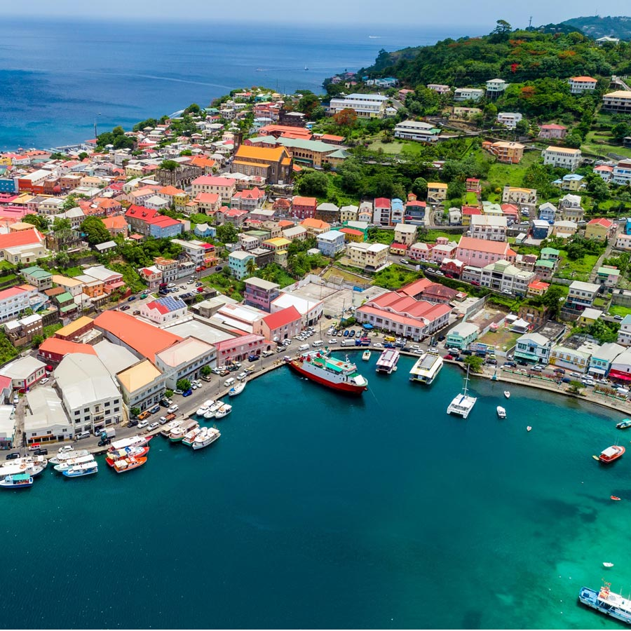Aerial View of St. George's, Grenada
