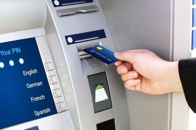 Using credit card at ATM