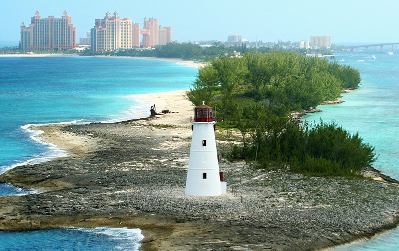 Nassau Harbour lighthouse Bahamas